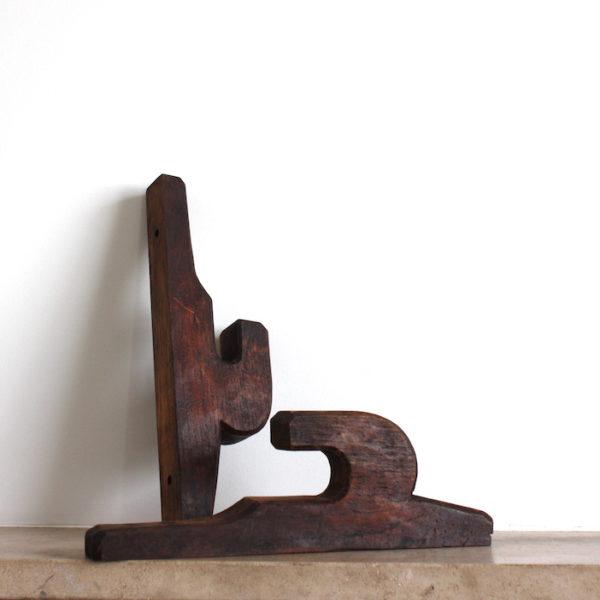 crochet vintage en bois