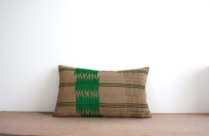 aso oke green cushion